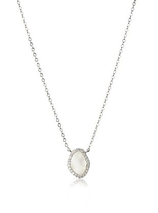 68% OFF CZ by Kenneth Jay Lane Free-Form Mother of Pearl Necklace