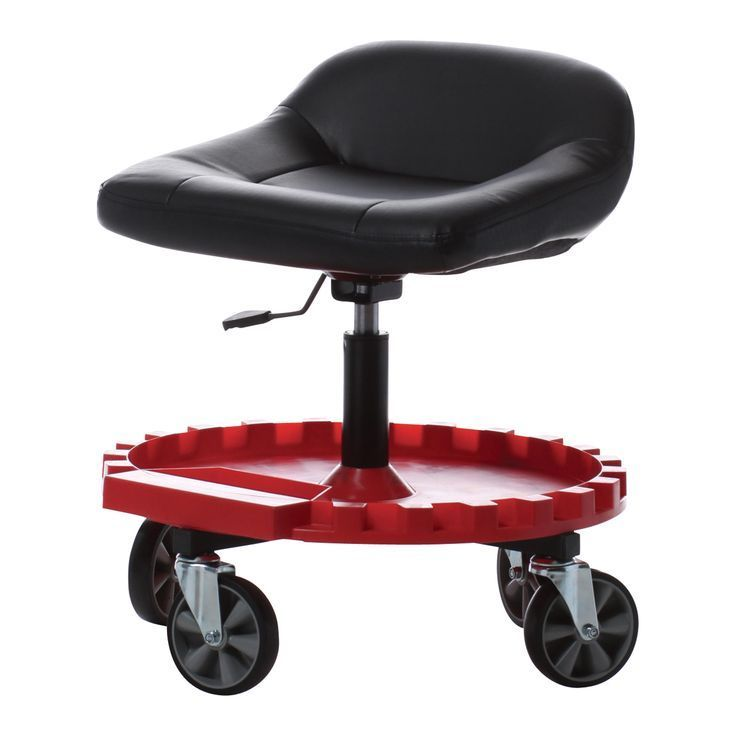 Traxion Gearseat Adjustable Shop Stool With Casters And