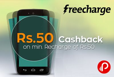 #FreeCharge #offers Rs.50 #Cashback on min. #recharge of Rs.50 only for New Users and Only for Mobile App. Coupon Code: ?HI50. Valid till : 14th Sep . http://www.paisebachaoindia.com/get-rs-50-cashback-on-min-recharge-of-rs-50-freecharge/
