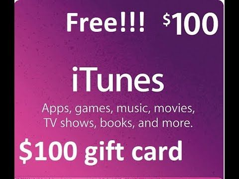 Free $100, $50 iTunes Gift card codes Generator 2018 *Live
