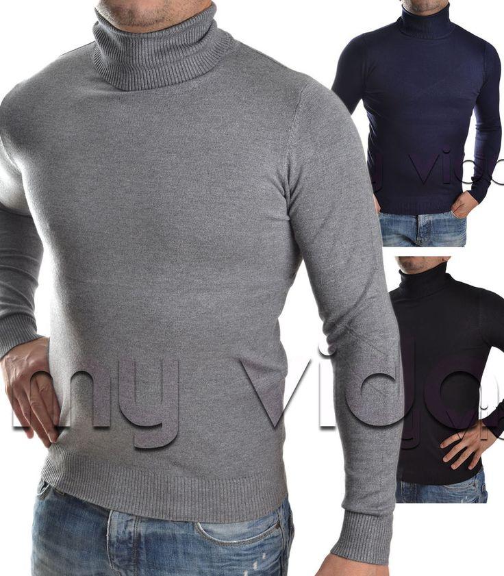 #Maglione #uomo collo alto dolcevita #pullover lana MU6