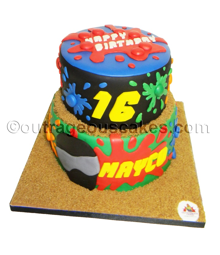 Paintball Cake Cake Ideas and Designs