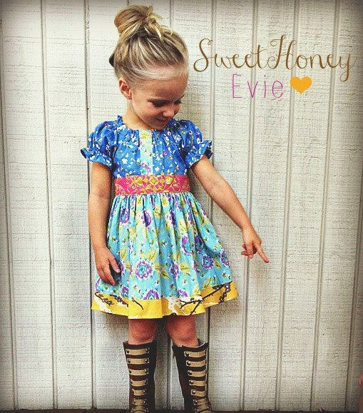 SweetHoney Evie Peasant Dress Ready to Ship by SweetHoney2 on Etsy, $44.00