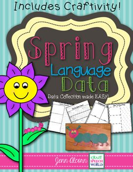 Data Collection 4/4  Just like my Winter Data Collection Packet, Spring Data Collection is going to make collecting data for the spring months a snap! It includes activities to monitor progress several common language goals: retell, sequencing, vocabulary, sentence construction, functions, compare/contrast, following directions, synonyms/antonyms, categories, and describing!Included in the downlo