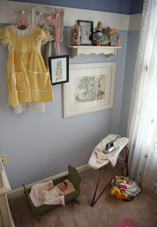 Similar colors/groupings in kids' room.  Love the darker at the top of the room instead of middle of room.