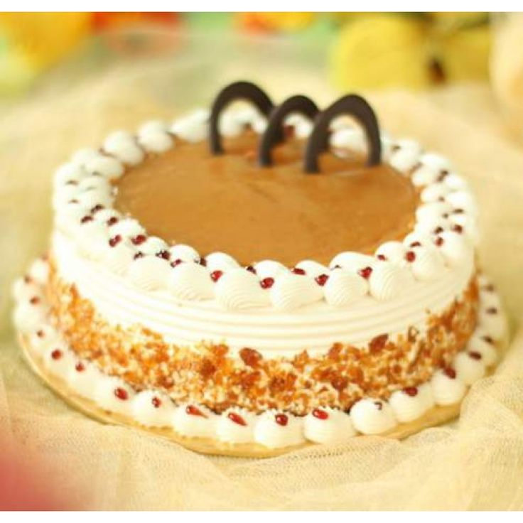 Butter Scotch Cake  Send This Awesome Butter Scotch Cake with  to your loved ones and make their special occasions much more special .   Disclaimer: Every cake we offer is handcrafted and since each five star bakery has there own way of baking and designing the cake, there might be a slight variation in the product in terms of design.