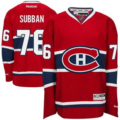 Reebok P.K. Subban Red Montreal Canadiens Premier Player Jersey