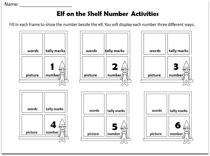Elf on the Shelf Number Activities Set for Kids
