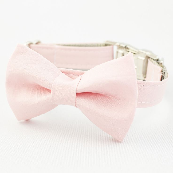 This pink cotton bow tie dog collar is the perfect black tie accessory! * Heavy weight webbing, reinforced with double stitching for durability * Curved side release buckles for comfort and ease of us