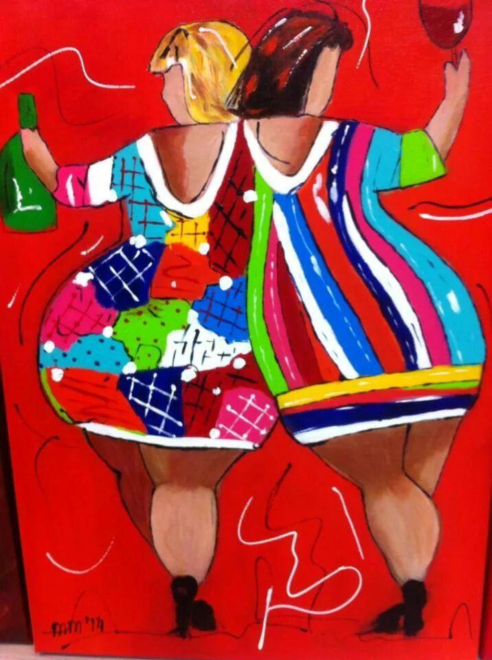 Mijn eigen dikke dames tekenen pinterest for Dikke dames schilderen