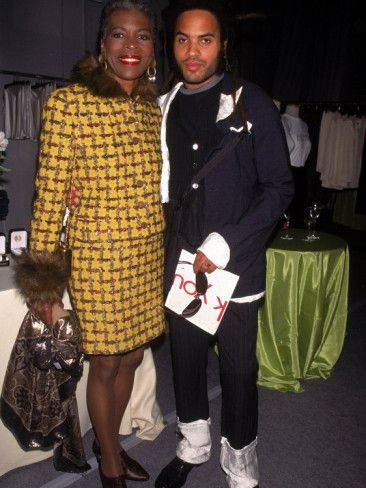Singer Lenny Kravitz with His Mother, Actress Roxie Roker (Jeffersons) - his cousin is Al Roker of the Today show