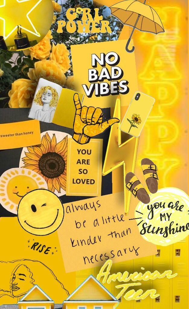 Aesthetic Vibes Tumblr Vintage Pastel Yellow Aesthetic Wallpaper