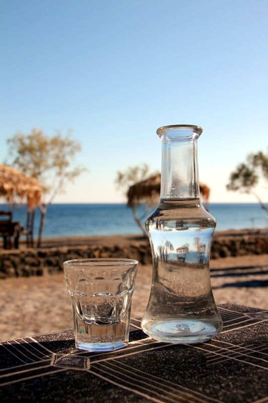 A small bottle of #Tsipouro and the seaside. Happiness! #CivitelHotels #CretaBeach #AkaliHotel