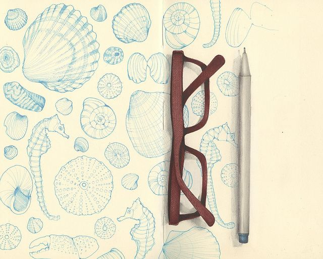 your smiles and shells by andrea joseph's illustrations, via Flickr
