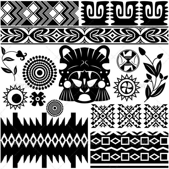 Ancient American pattern American pattern, Tattoo