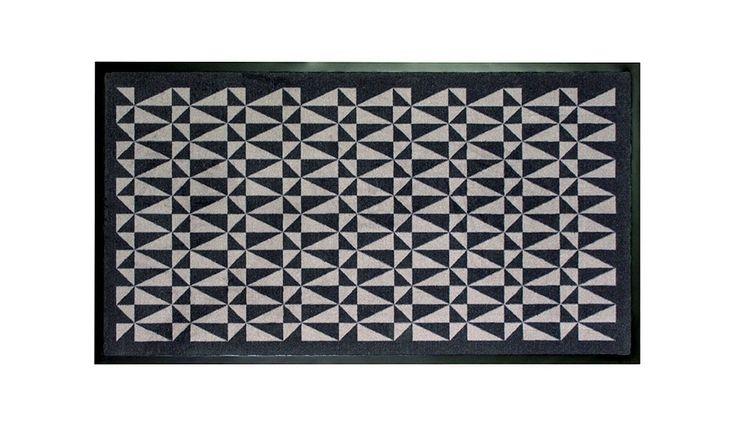 MONOQI | 80x185 Fußmatte - Schwarz/Grau