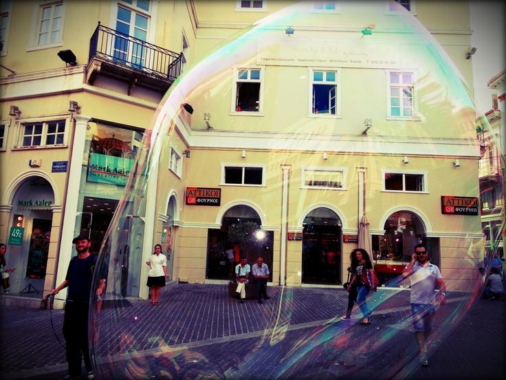 Hello big bubble- Athens greece