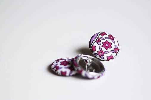 silvART / Kvetovaný odznak (fialový)