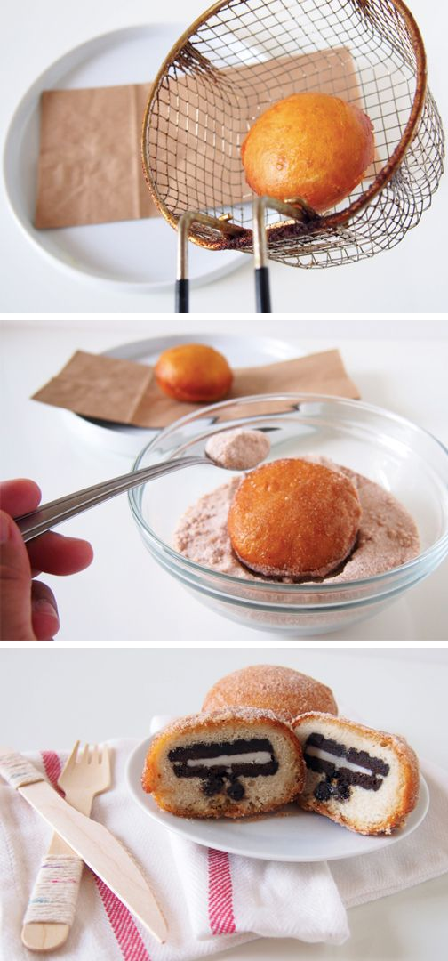 This unique dessert recipe from Inspired Gathering is the epitome of deliciousness! If you love donuts and sandwich cookies, than this super easy snack hack is perfect for you. These Fried Donut Cookies are going to steal the show at your next block party.