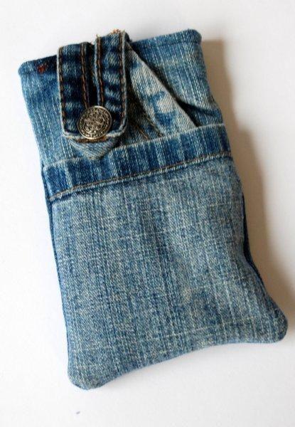 Telefoonhoesje van spijkerbroek