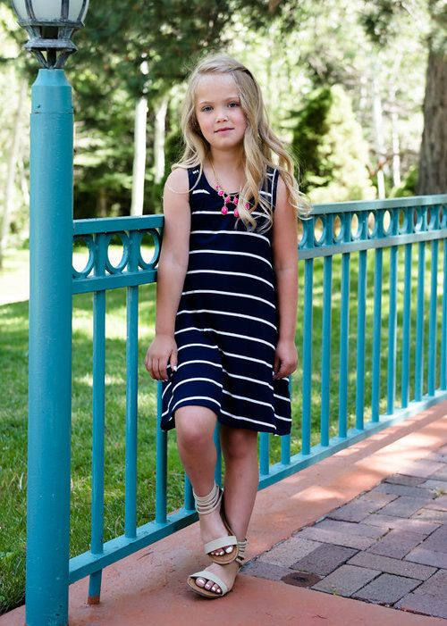 Navy Stripe Tank Dress, Striped Dress, Short Dress, Pocket Dress, Tank Dress, Mommy and Me, Matching, Ryleigh Rue, Online Shopping, Online Boutique, Boutque, Fashion, OOTD, Style, WIWT