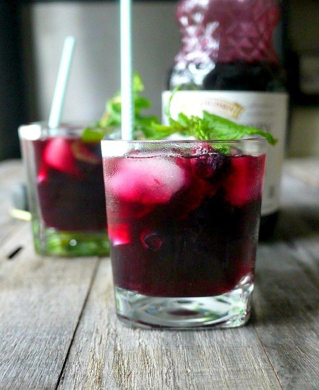 Blueberry Maple Mojito | 25 Fruit Juice Cocktails You'll Actually Like Drinking