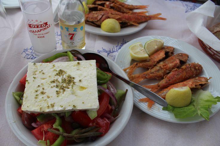 Chios Mesta Port Greece Fish uzo