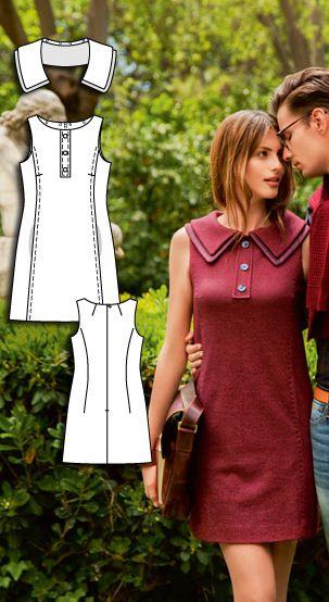 Shift DressBurda Sep 2015 #108 Pattern $5.99: http://www.burdastyle.com/pattern_store/patterns/tank-shift-dress-092015