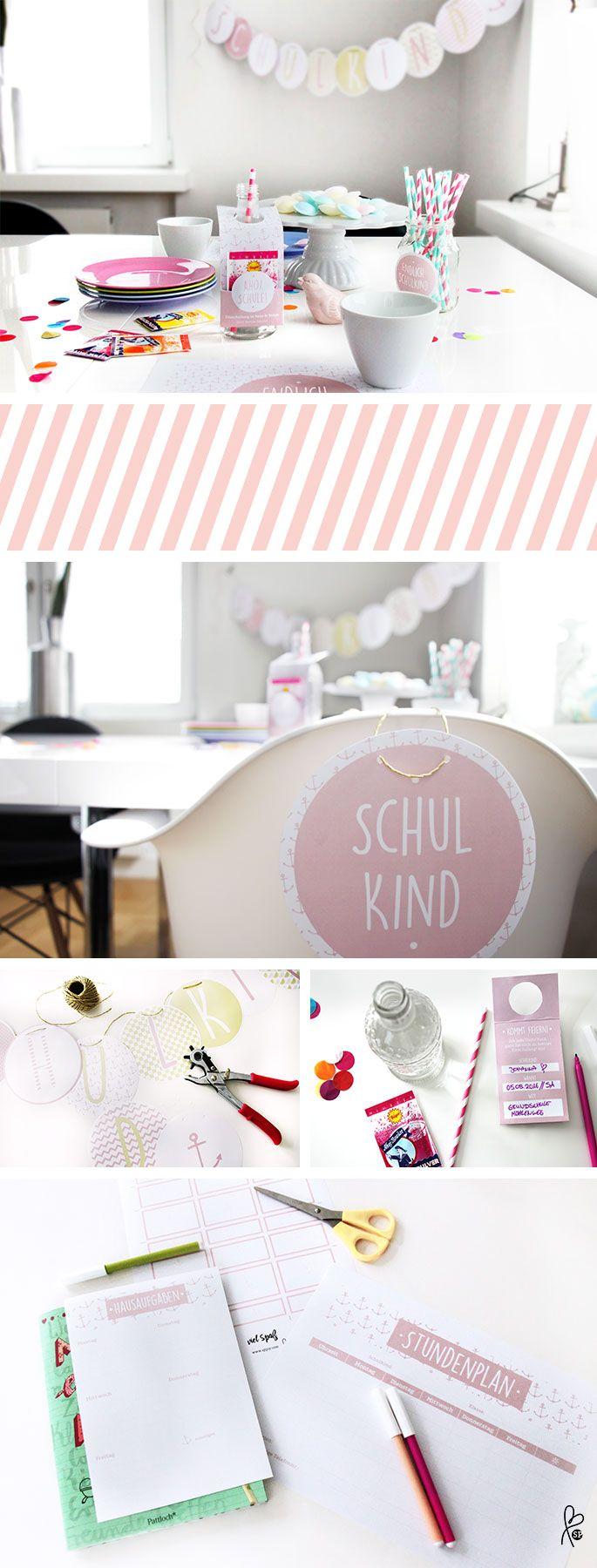 Bereite schon jetzt die Einschulung vor! Mit diesen tollen Printable-Vorlagen – für Jungs & Mädchen! www.dawanda.de/shop/sppiy