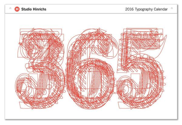 2016 Typography Calendar by Studio Hinrichs \\\ $32 (desk) or $49 (super)Calendar2016-18-365-studio-hinrichs design-milk