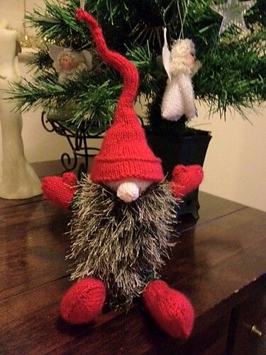Alan dart pattern gnome Knitted gnome christmas knitting