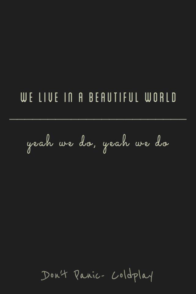 Don't Panic- Coldplay lyrics