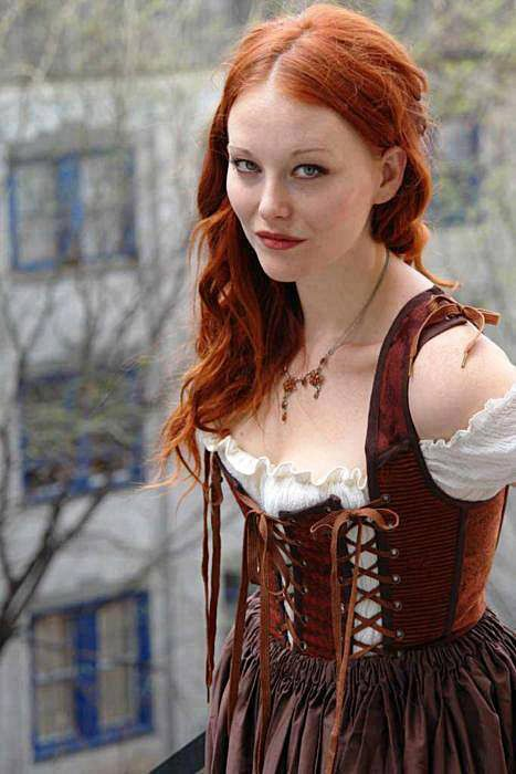 Scottish female redhead warriors