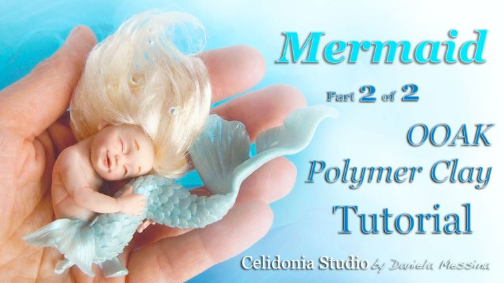 How to sculpt a Mermaid in polymer clay :) Part 2 - Tail and Hair Modellare una Sirena in pasta sintetica :) Parte 2 - Coda e Capelli Blog: http://celidonias...