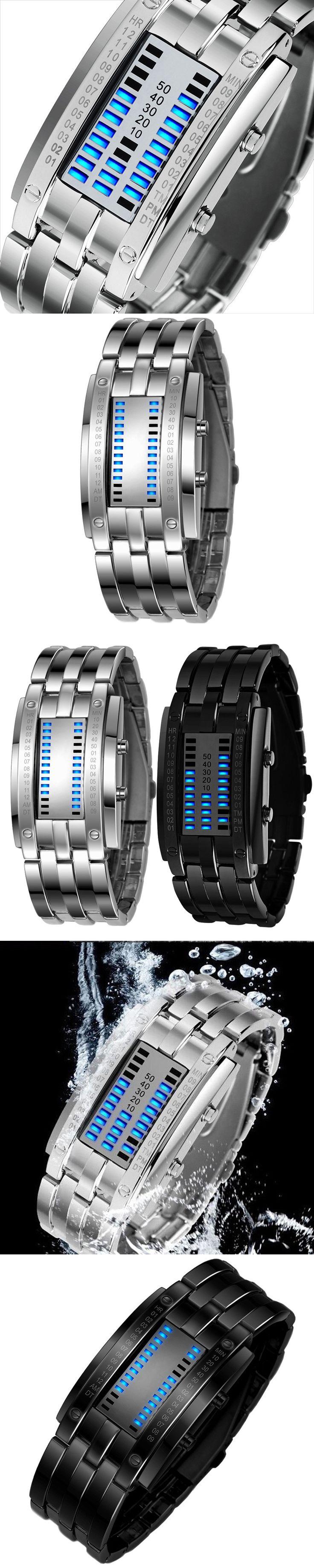 Multi function Men's Watch Luxury Stainless Steel Band LED Digital Watch Date Bracelet Sport Watches reloj hombre