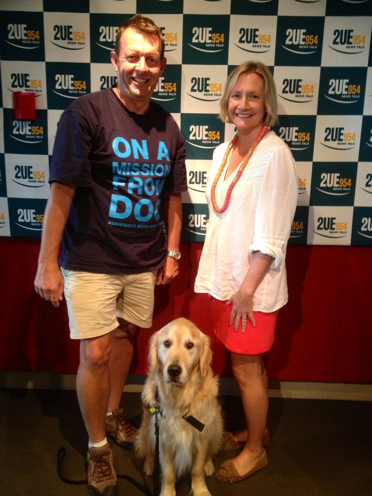 Top Dogs from Assistance Dogs Australia joined me at Radio 2UE www.assistancedogs.org.au