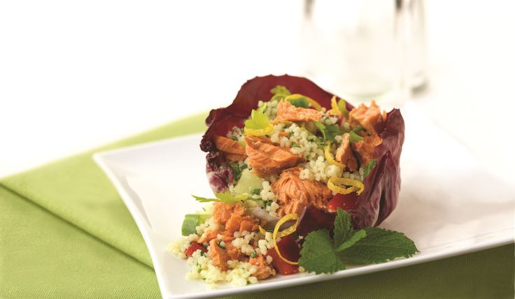 Make Life Easy with this Salmon Couscous Salad recipe! LIKE us at https://www.facebook.com/goldseal #cannedsalmon #cannedseafood #easyrecipes