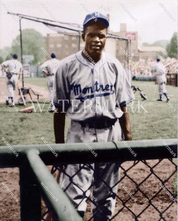 Do616 jackie robinson montreal royals baseball 8x10 11x14