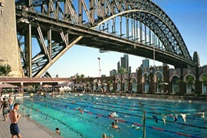 Take a dip under the Harbour Bridge at the North Sydney Pool. Stunning!