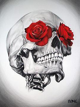 Ms de 25 ideas increbles sobre Tatuajes de rosa de calavera en