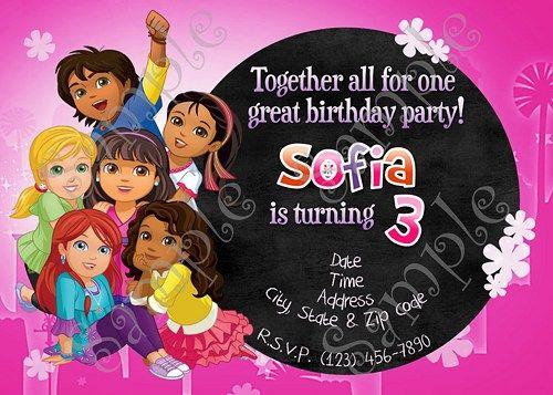 31 best dora and friends into the city birthday party images on dora invitation dora party dora birthday dora and friends into the city birthday filmwisefo