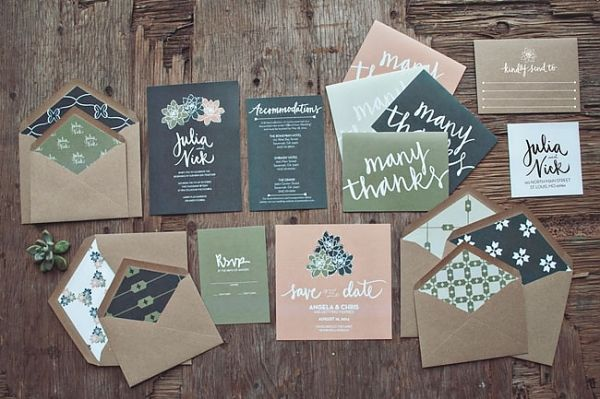 Foodie Wedding Invitations by Yours is the Earth | Green Wedding Shoes Wedding Blog | Wedding Trends for Stylish + Creative Brides