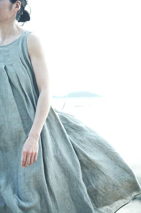 flowing linen dress