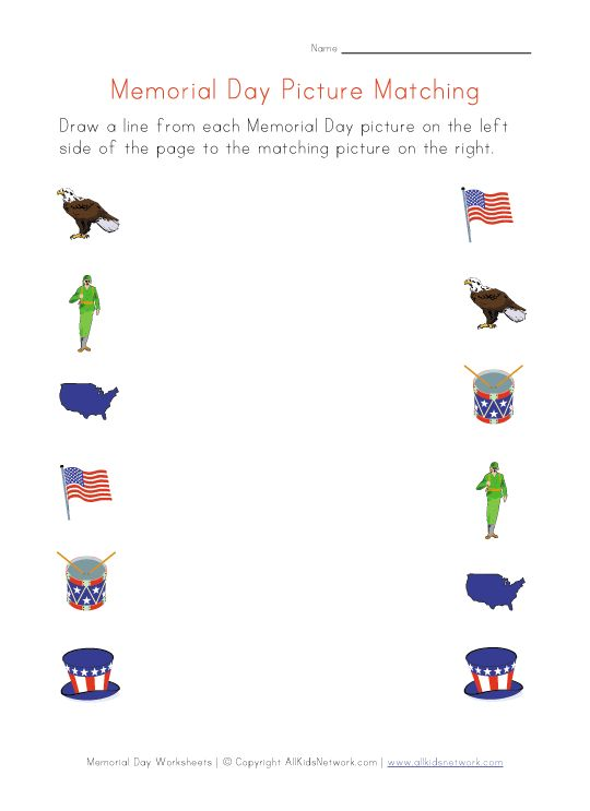 memorial day activities for third graders