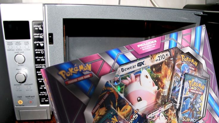 Moron Microwaves Pokemon Card Box and then Opens it