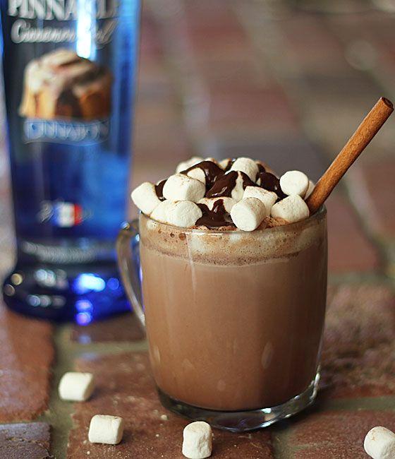Cinnamon Roll Hot Chocolate Toddy