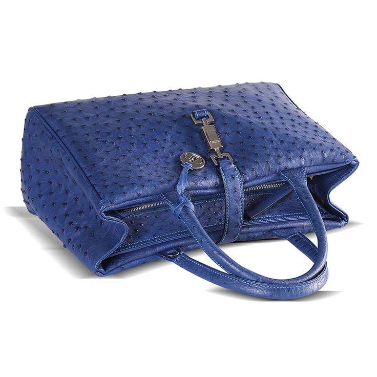 genuine ostrich skin handbag from Via La Moda - the ELKE handbag