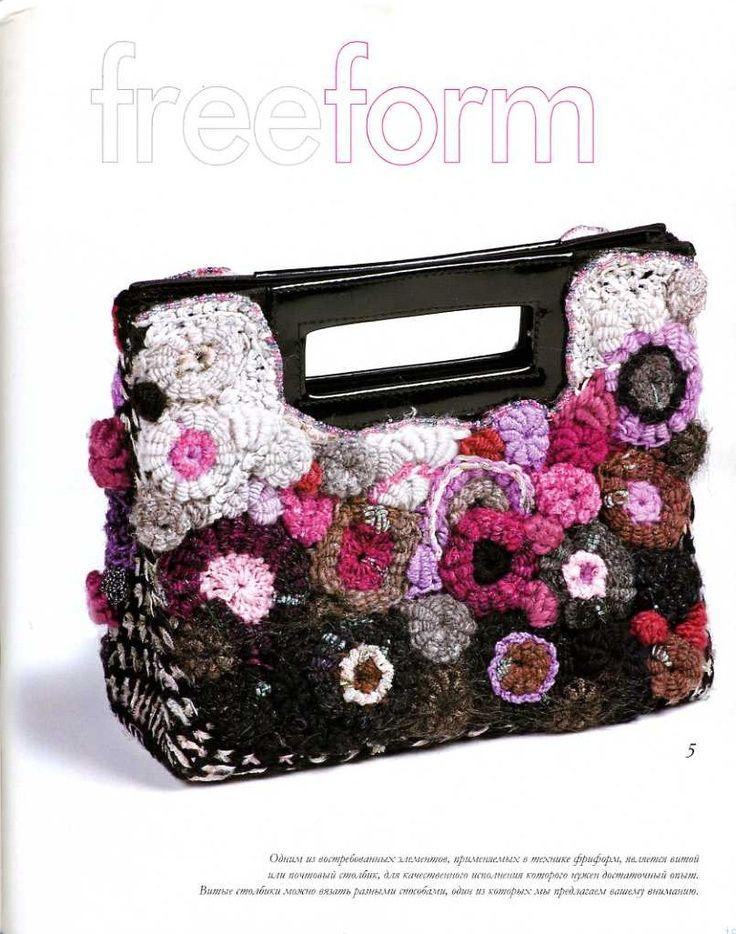 227 best Crochet Bags - Freeform images on Pinterest   Crochet ...