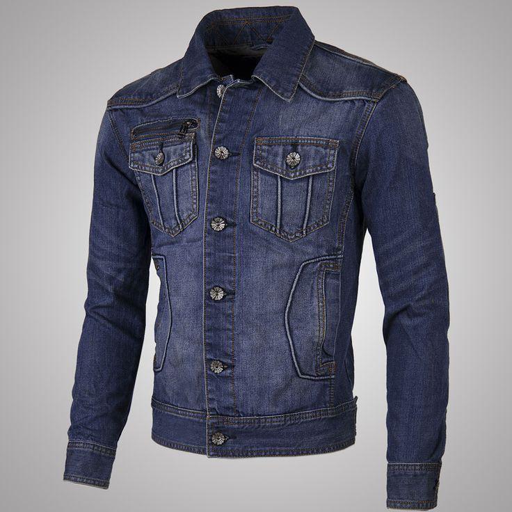 Pas cher Automne Style Mens nouvelle moto veste en jean bleu lavé Vintage Biker Jeans manteau , Plus la taille pour hommes A007, Acheter  Blousons de qualité directement des fournisseurs de Chine:                                                       Drapeau américain veste        Lavé veste en jean        Sweat ma