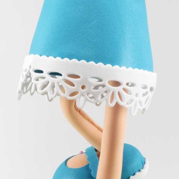 Fofucha Luna detalle de la falda del Vestido